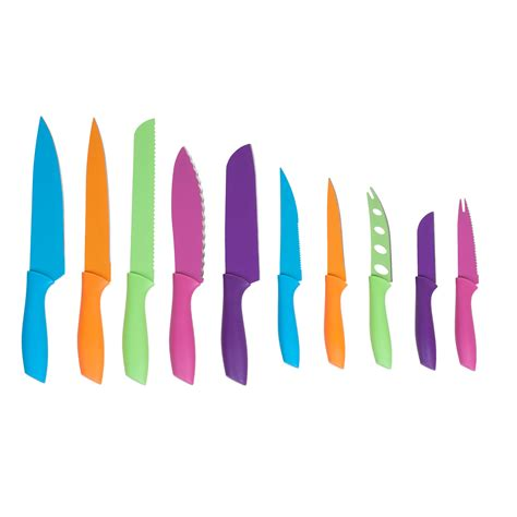 colored knife set 10 multi colored knife set with magnetic bar tanga
