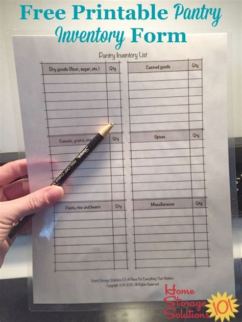 printable pantry list   inventory  stay