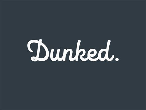 typography what rounded bold cursive font looks like the quot dunked quot logo graphic design stack