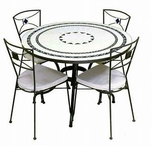 Table Ronde Exterieure : table zellige exterieure ~ Teatrodelosmanantiales.com Idées de Décoration