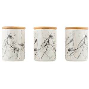 kitchen tea coffee sugar canisters set of 3 ceramic canisters marble look tea coffee sugar kitchen bathroom decor ebay