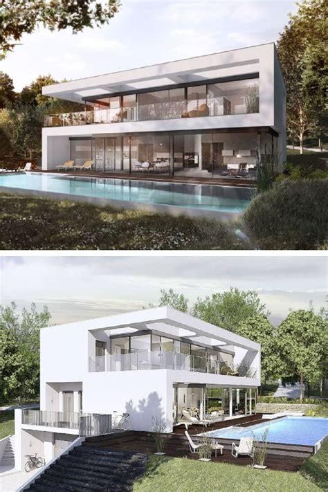 Fertighaeuser Im Bauhaus Stil by Luxus Stadtvilla Bauhaus Architektur Modern Mit Flachdach