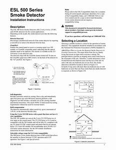 Esl 500 Series Smoke Detector Installation Instructions