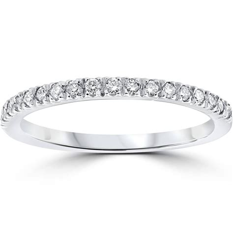 ct pave diamond wedding pave ring womens stackable