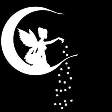 moon and stars fairy l fairy moon and stars decal 5 inch ships in white other