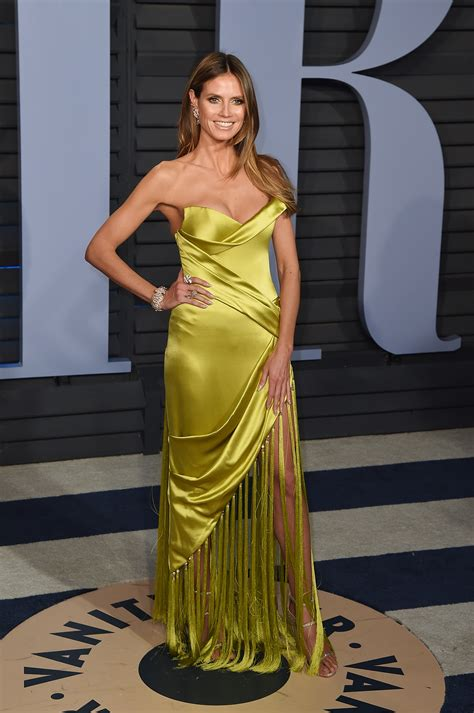Heidi Klum Vanity Fair Oscar Party Satiny