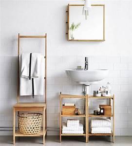 salle de bain scandinave idees deco et mobilier With idee salle de bain bois