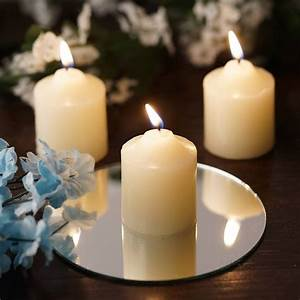 Efavormart, Set, Of, 60, Ivory, Unscented, Votive, Candles, For, Wedding, Party, Birthday, Centerpieces, Home