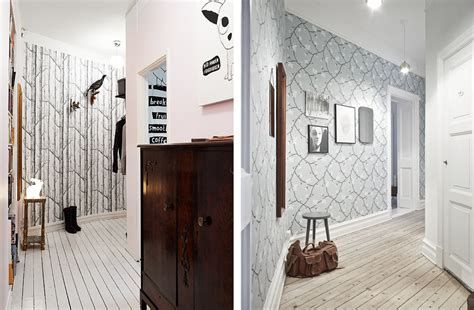 tapisser une chambre papier peint 4 murs couloir