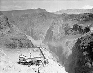 Building Of Hoover Dam Begins  1930  U2013 Maiden On The Midway