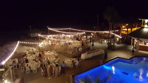 wedding reception   pool deck picture   beach