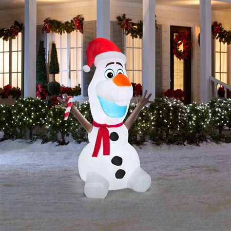 christmas airblown inflatable olaf frozen snowman