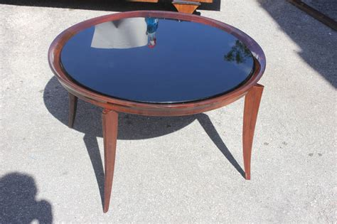 large round glass coffee table french art deco large round coffee or cocktail table