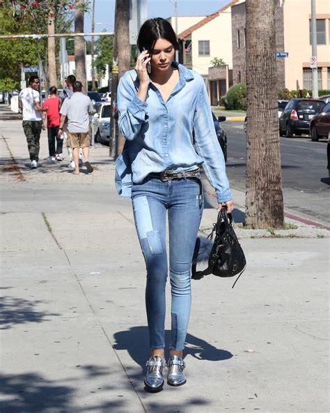 Kendall Jenner Denim Shirt - Fashion Lookbook - StyleBistro
