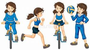 Active teenagers stock vector. Illustration of activity ...  Active