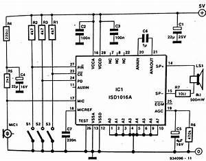 Voice Recorder Circuit Diagram