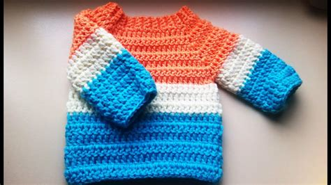 how to crochet a sweater crochet baby sweater jumper pullover