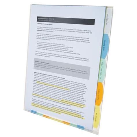 wilson jones templates wilson jones view tab professional sorter 5 tabs letter size multi color w55120 software