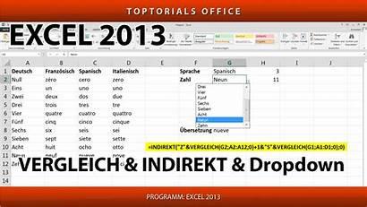 Excel Indirekt Vergleich Toptorials Dropdown Monatskalender Dynamischer