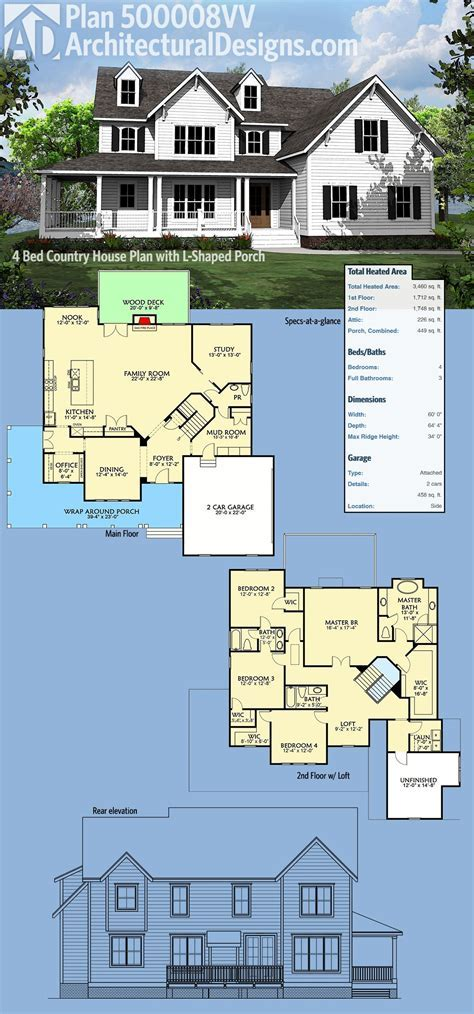 Architectural Designs Country House Plan 500008VV has a