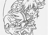 Glitter Force Coloring Pages Doki Popular sketch template