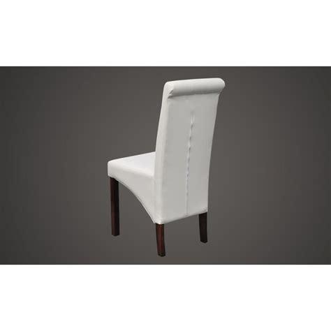 chaise de cuisine en cuir blanc la boutique en ligne chaise antique simili cuir blanc lot