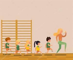 aula de educação física — Vetores de Stock © andrei ...