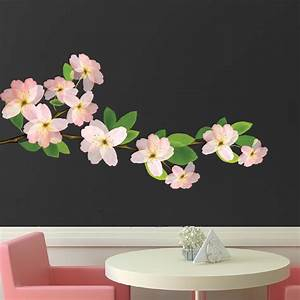 beautiful flower branch wall decal bedroom cherry With beautiful flower decals for walls
