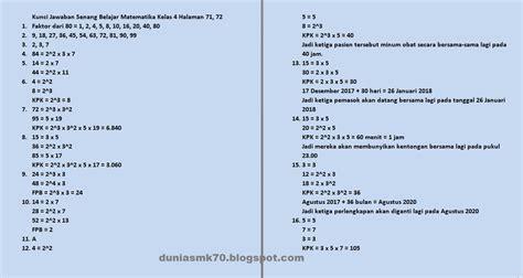 Soal uts penjaskes kelas 6 semester 2 dan kunci jawaban. Kunci Jawaban Buku Senang Belajar Matematika Kelas 4 ...