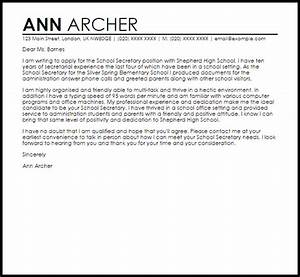 School secretary cover letter sample livecareer for How to write a cover letter for secretary position