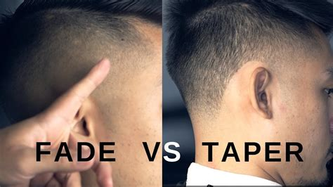 fade  taper whats  difference youtube