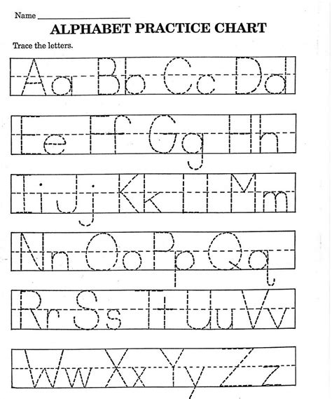 abc practice worksheets  learning printable