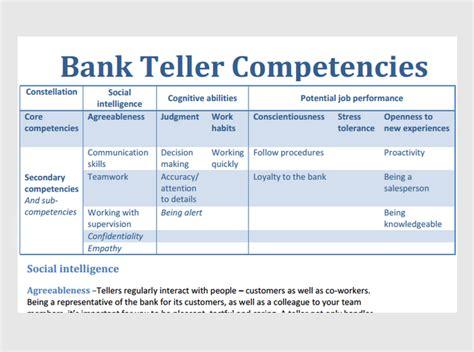 bank teller assessment sample questions