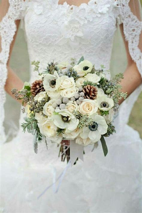 ultra elegant winter bridal bouquet showcasing white