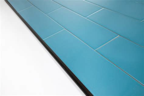 using schluter trim profiles with subway tile