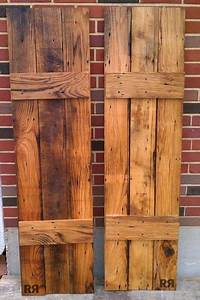 Barnwood board and batten shutters easy to make from any for Barnwood shutters