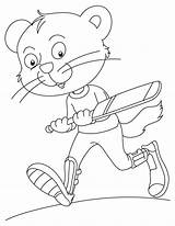 Cricket Coloring Playing Funky Cat Pages sketch template