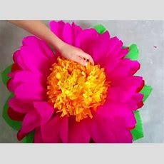 Diy Riesenblumen Riesige Blumen Aus Krepppapier Basteln