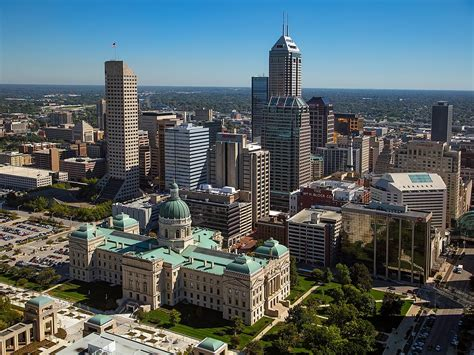 City Indiana by Downtown Indianapolis