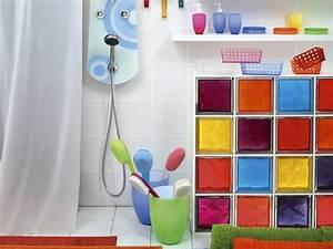 Cloison Brique De Verre : des cloisons de salle de bains en briques de verre leroy ~ Dailycaller-alerts.com Idées de Décoration