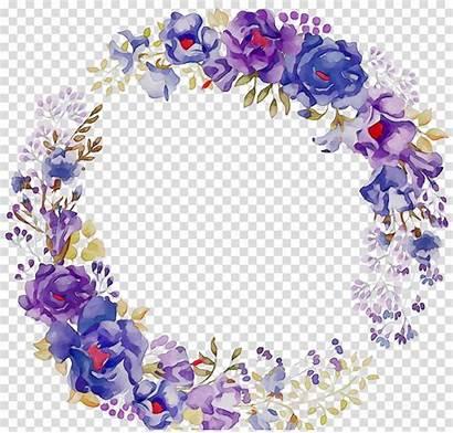 Wreath Purple Flower Clipart Clipground