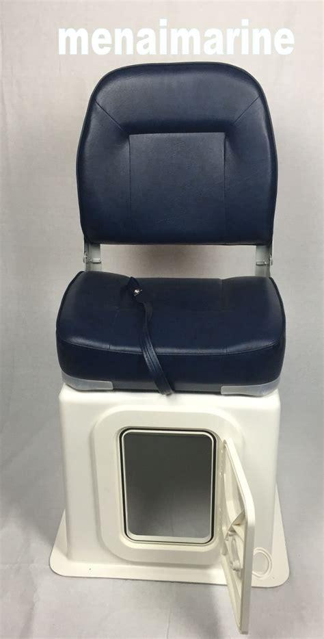 large high back boat seat folding with seat storage box