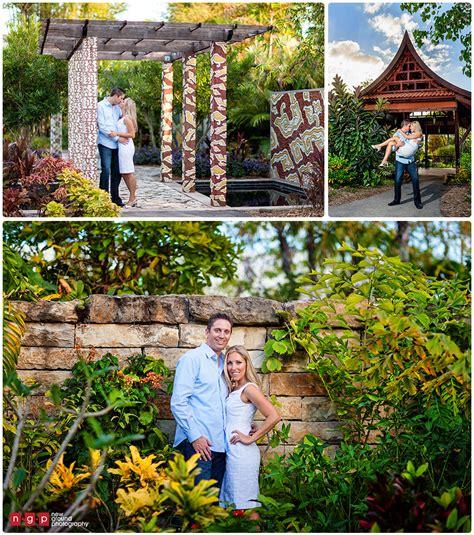 naples botanical garden engagement kristin jason