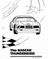 Coloring Nascar Cars Sheets Racing Race Blank Printable Boys Printing Boy Driver Muscle Thunderbird Activity sketch template