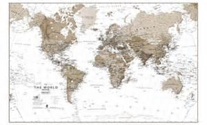 Large Framed World Map
