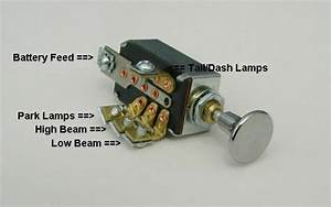 Headlight Dimmer Switch 4 Position With Chrome Knob Hot