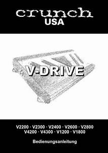 Crunch V2600 Car Radio Download Manual For Free Now