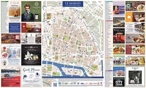 Free Paris Marais Map