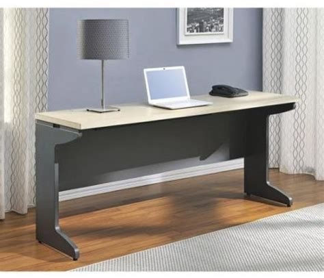 desk l with outlet and organizer long computer desk large table wood workstation organizer