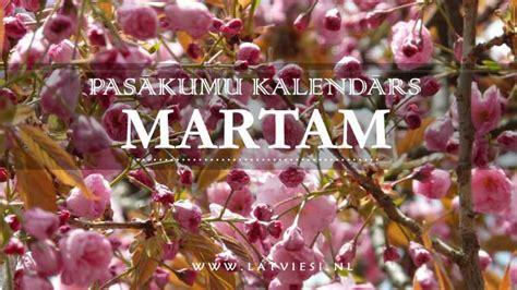 Pasākumu kalendārs martam - Latvieši NL